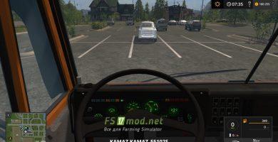 KAМАЗ 55102S вид с кабины