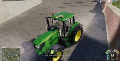 Мод на John Deere Series 6M для игры Farming Simulator 2019