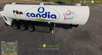 Mод на Trailer Milk Candia
