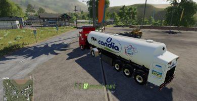 Mод на Trailer Milk Candia для игры Farming Simulator 2019