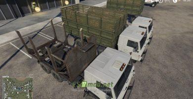 Мод на пак Камаз 4310 для игры Farming Simulator 2019