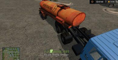 Мод на полуприцеп бензовоз для карты «Россия» для игры Farming Simulator 2017