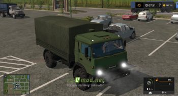 Mод на КАМАЗ 4350 для игры Farming Simulator 2017