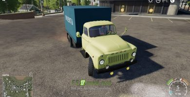 Мод на ГАЗ 52 желтый продуктовый